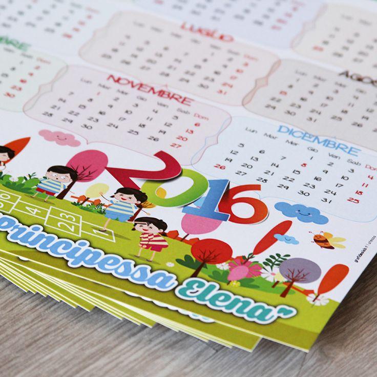 Cliente: Asilo Principessa Elena | Calendario da parete - GRAFIDEA • Stampa & Pubblicità