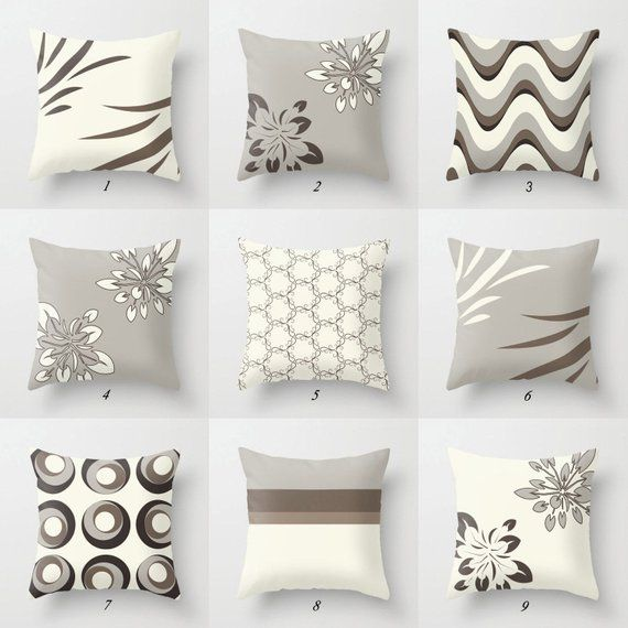 Order Before December 3 To Receive In Time For Christmas Elegant Throw Pillow Covers With Geometric And Floral Desig Cuscini Decorativi Cuscini Divano Beige