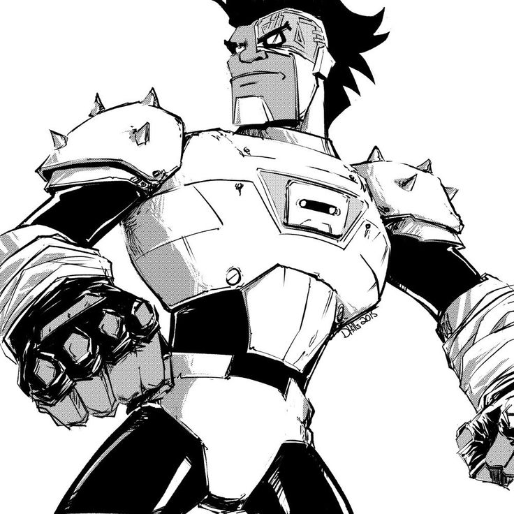 """Cyborg, 80's Anime Style (from the Teen Titans Go! episode, """"40% 40% 20%"""")"""