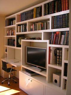 Biblioteca madera dise o pinterest for Muebles de cocina manolo