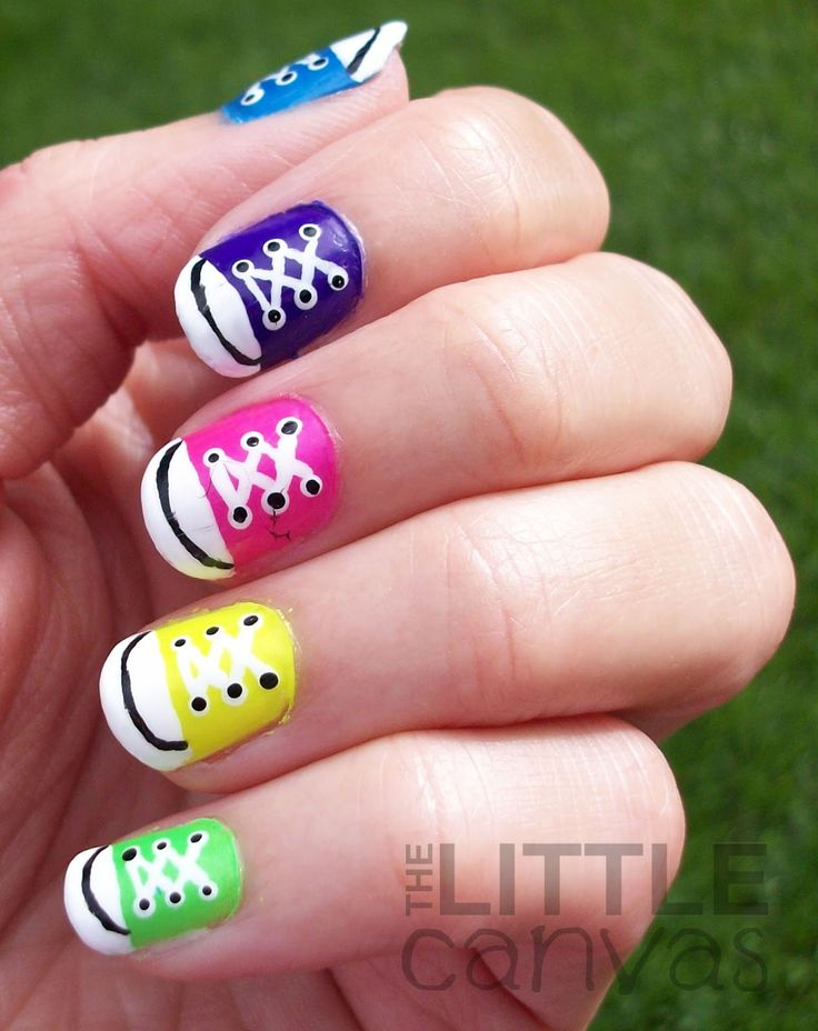 The 25 best converse nails ideas on pinterest converse nail art the little canvas 31 day challenge day 7 rainbow nails converse nail prinsesfo Images