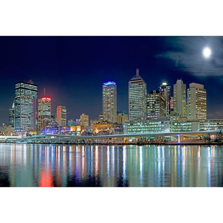 Brisbane in Moonlight http://www.thecanvasartfactory.com.au/store/products/Brisbane-in-Moonlight%2C-Original.html