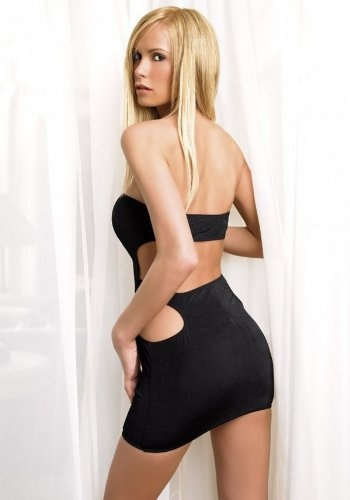 Slinky Tube Mini Dress Sexy Lingerie Intimate Apparel With Cut Out Back  $11.95 - $24.89