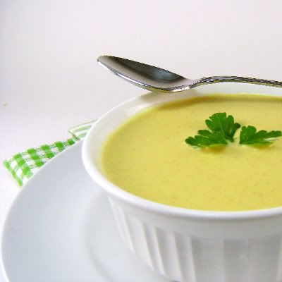 Curried Cream of Cauliflower & Apple Soup. Had something similar at Sprout, dying to recreate it.