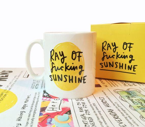 Ray of F***ing Sunshine Mug - emilycoxhead