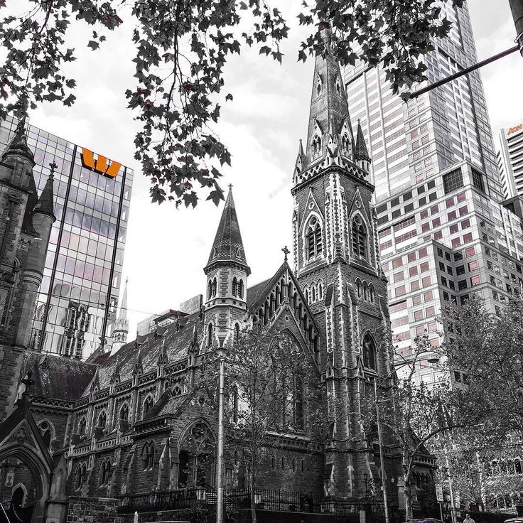 Rain, hail or shine, Scots Church #Melbourne sure looks good in #winter. Opened in 1874, the gothic facade has stood the test of time using stone from #Geelong and #NewZealand to create this masterpiece you see today. #photooftheday #architecture #church