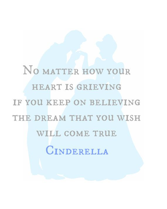Cinderella Quote Silhouette Digital by RachelsMagicalPrints