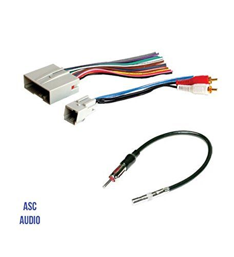 ASC Audio Car Stereo Wire Harness and Antenna Adapter to install an Aftermarket Radio for some Ford Lincoln Mazda Mercury Vehicles- Compatible Vehicles listed below. For product info go to:  https://www.caraccessoriesonlinemarket.com/asc-audio-car-stereo-wire-harness-and-antenna-adapter-to-install-an-aftermarket-radio-for-some-ford-lincoln-mazda-mercury-vehicles-compatible-vehicles-listed-below/