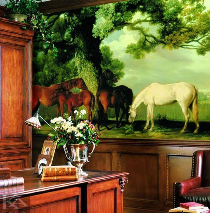 Pictura murala / fototapet cu cai si peisaje, da viata peretelui din incaperea preferata!  Catre #tapet: http://tinyurl.com/pfywbx6  http://www.ka-international.ro/tapet.html