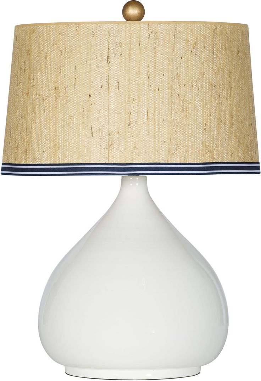 Bimini Table Lamp  Ceramic Lamp With Natural Shade