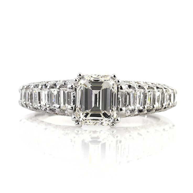 Emerald Engagement Rings Cut Diamonds Anniversary Gems Jewelry Emeralds Glitters Diamond Wedding
