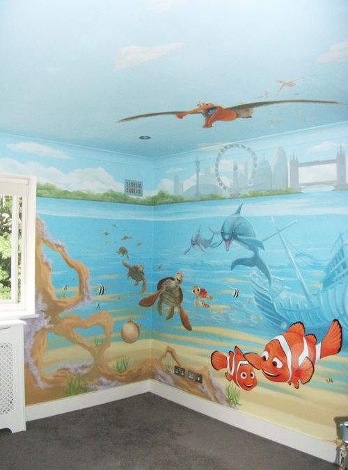 Best 25 disney mural ideas on pinterest for Character mural