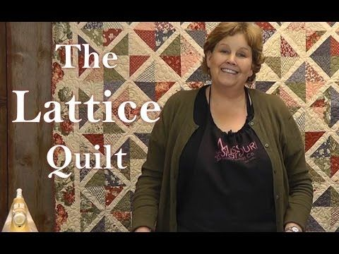 ▶ The Lattice Quilt - Quilting Made Easy! - YouTube
