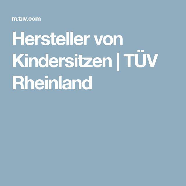 Hersteller von Kindersitzen | TÜV Rheinland