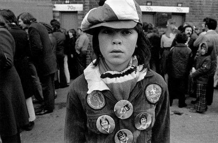 Magnum Photos - Peter Marlow GB. Football. Manchester United Football Club supporters.