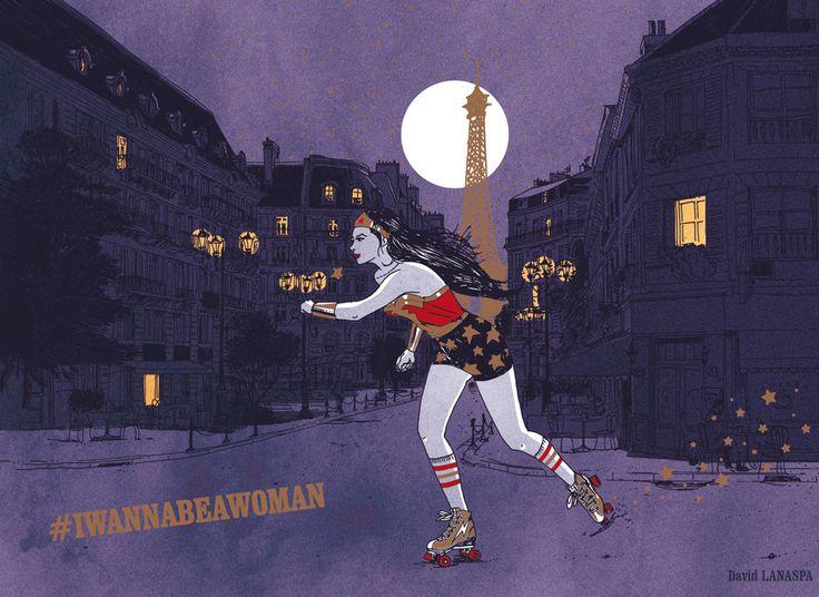 David Lanaspa #iwannabeawoman  illustrateur, agence Marie Bastille // cette image appartient à son auteur et/ou l'agence Marie Bastille + d'infos sur le site //