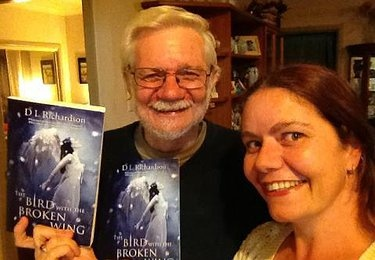 Author of young adult fiction D L Richardson recieves this lovely photo from a friend and friend' s father. They're holding their autographed copies of the YA fantasy novel The Bird With The Broken Wing. The author plans to write the sequel to this book in 2013