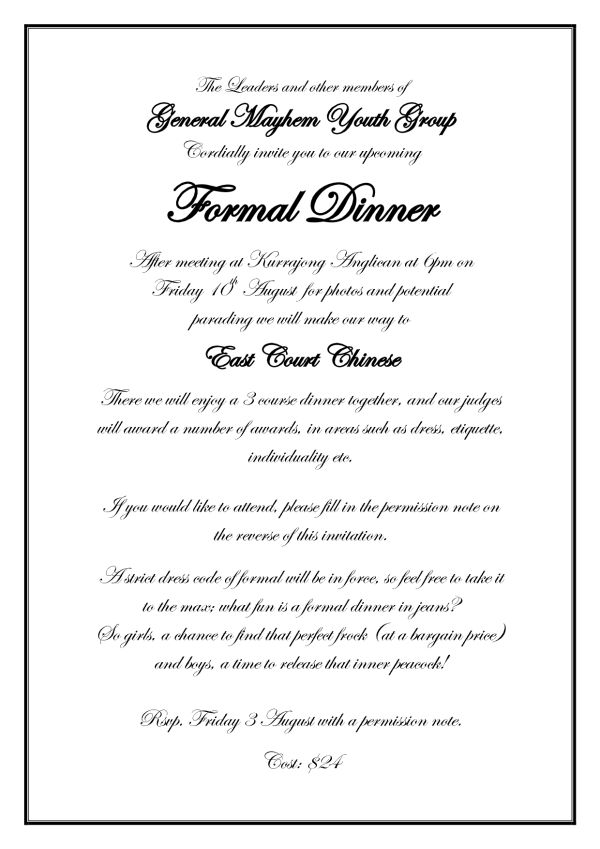 Formal Invitation Invitation Letter For Lunch Formal Formal – Sample Formal Wedding Invitation Wording