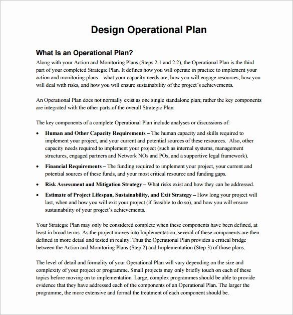 30 Business Operational Plan Template In 2020 How To Plan