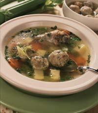 Куриный суп с фрикадельками - рецепт из СССР