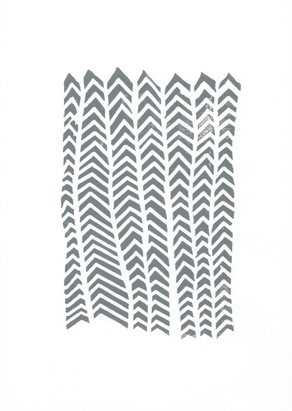 Arrows  lino print by lynn costello erskine on artclick.ie