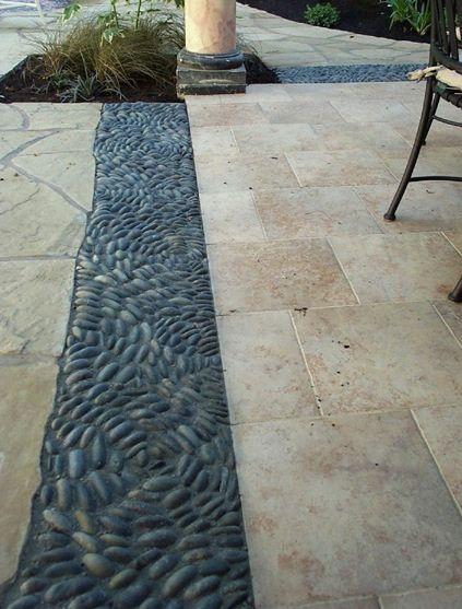 Pebble Mosaic Patio Trim