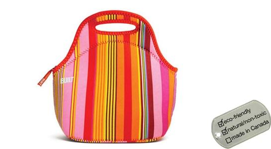 Neoprene Lunch Bag - nolita stripe gourmet getaway