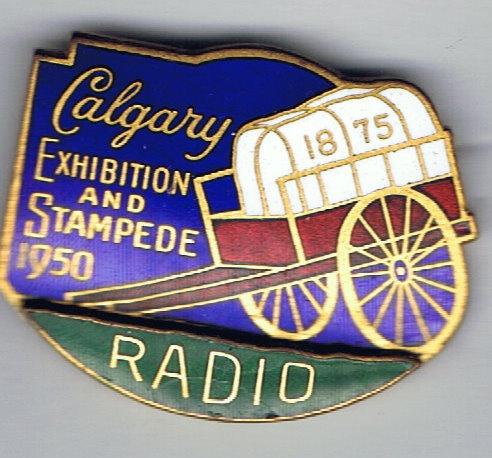 1950 Calgary Stampede Radio pin