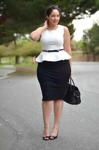 Lots of great outfit ideas for the curvy girl.