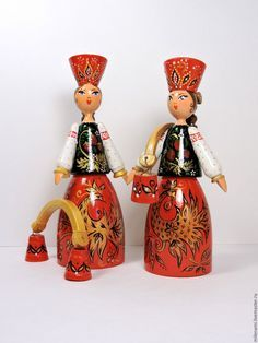 Handmade Varvara, painted doll, handmade Russian souvenir - painted doll, handmade, wooden dolls