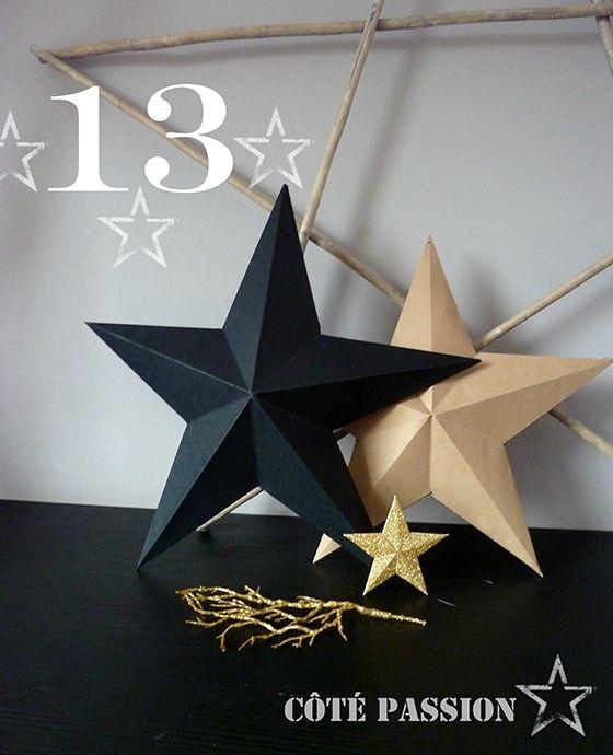 Avent 13 Côté Passion tuto: faire une étoile par pliage