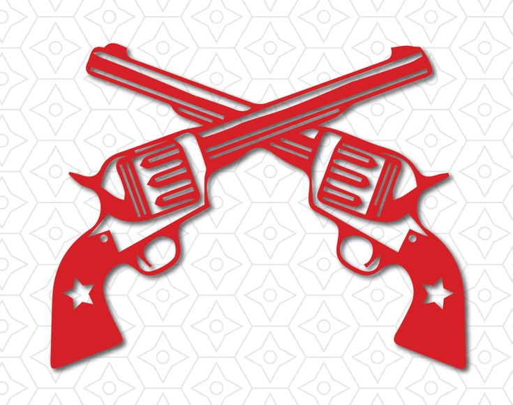 Western Revolver Guns Crossed Decal, SVG, DXF and AI Vector files for use with Cricut or Silhouette Vinyl Cutting Machines by DesignsByTristan on Etsy https://www.etsy.com/listing/260033797/western-revolver-guns-crossed-decal-svg