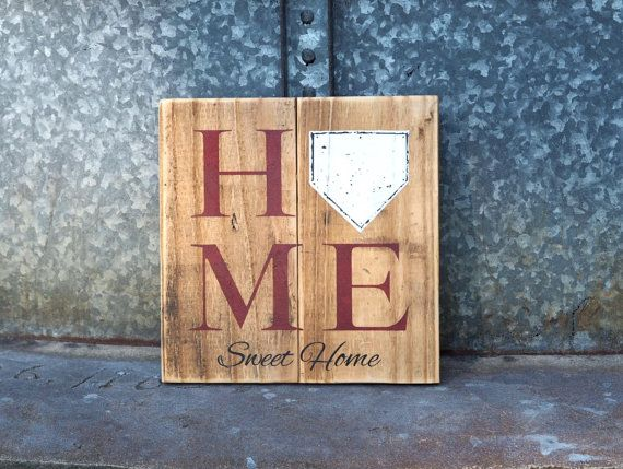Baseball Sign, Home Sweet Home Pallet Sign, Home plate Baseball Pallet Art, Man Cave Decor, Sports Gift, Boys Room, Rustic Gifts For Him