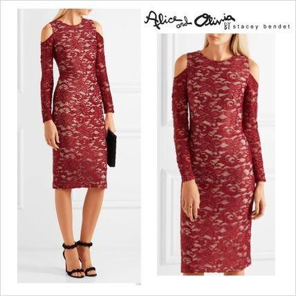 ●残り僅か Alice+Olivia エレガント カットアウト シースドレス2016 ファッション ドレス Alice+Olivia レトロ ヴィンテージ