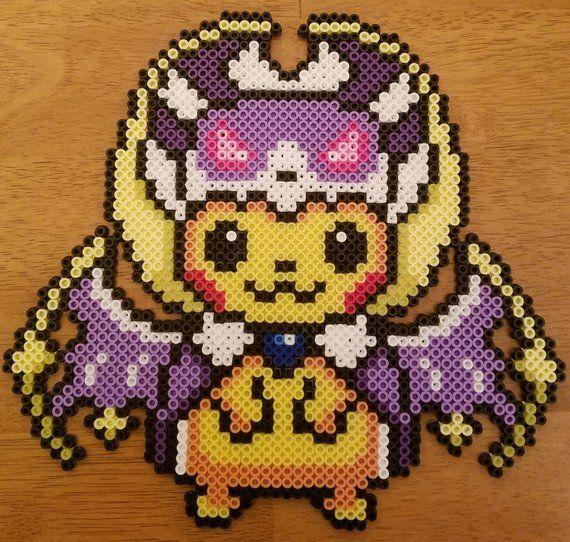 Pikachu Lunala Perler Pokemon Perler Beads Hama Beads