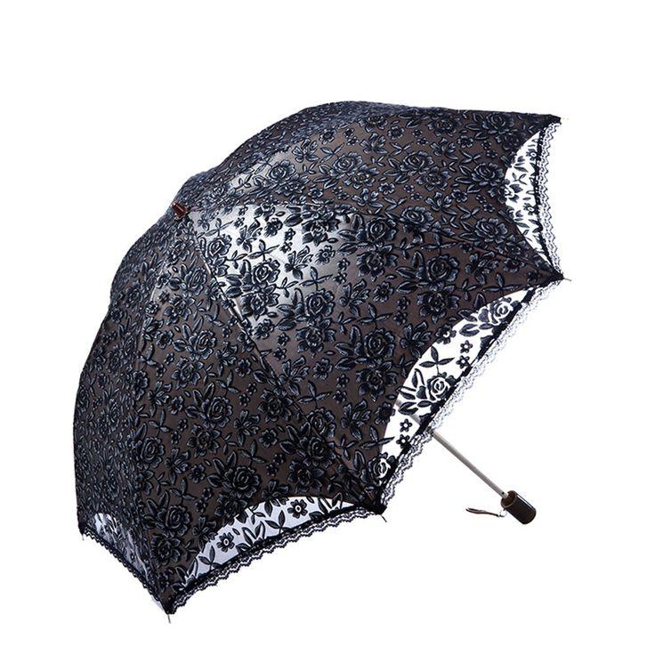 noemie upf 50 ladies umbrella lace parasol folding. Black Bedroom Furniture Sets. Home Design Ideas