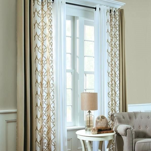 Double Curtains Captivating Triple Window Curtains Designs With