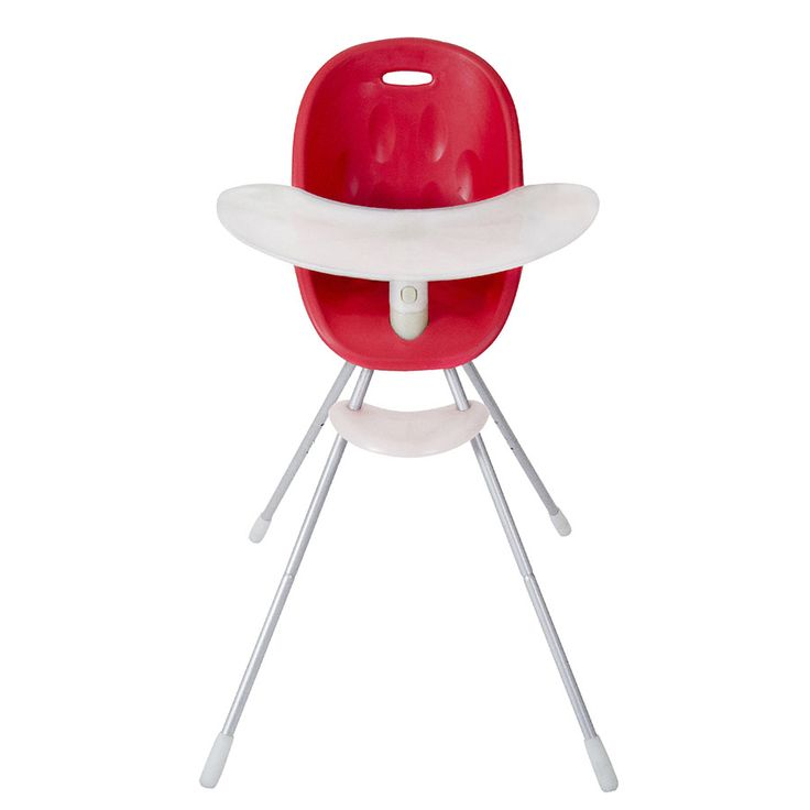 high chair that converts to big kid chair. Red & lime green