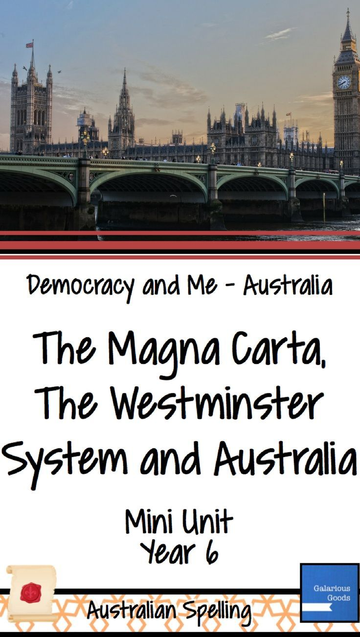 Explore the Magna Carta, the Westminster System and how they influenced Australian Democracy