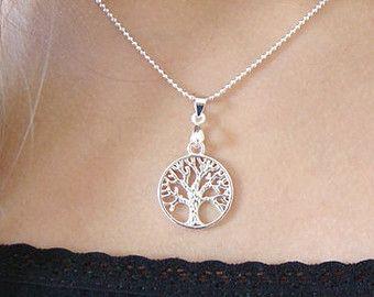 Sterling zilveren Levensboom Ketting Levensboom door Superbracelets