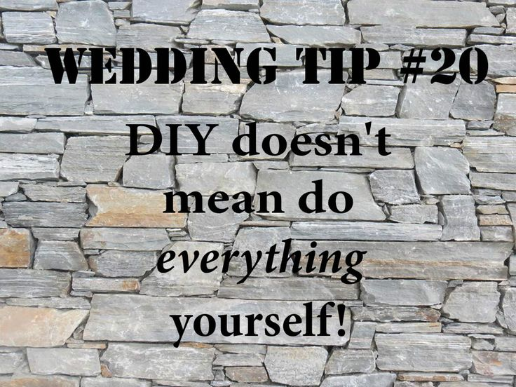 Wedding Tip #20