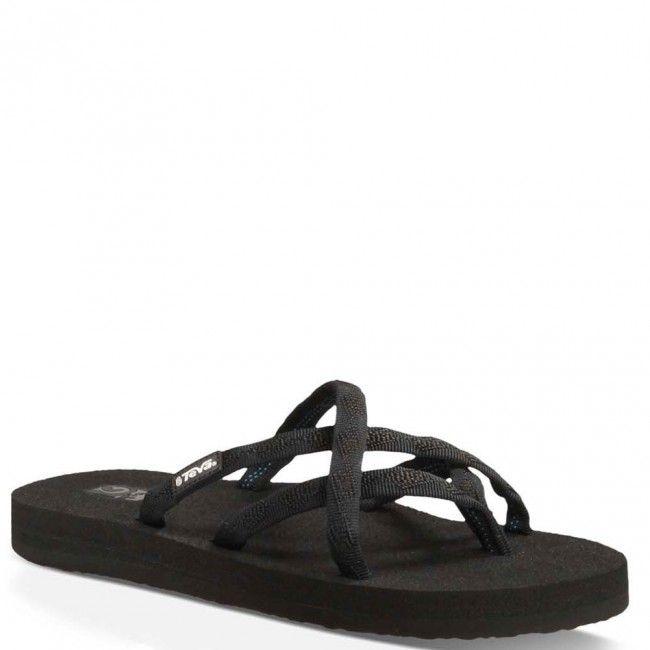 6840-MBOB Teva Women's Olowahu Flip Flops - Black www.bootbay.com