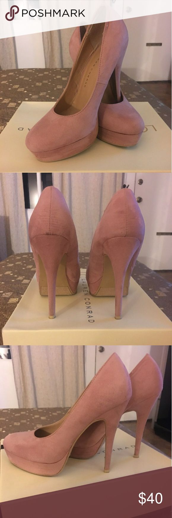 Sexy comfy LC Suede Platform Pumps!! LC Lauren Conrad Suede Platform Pumps Mauve color size 7, in excellent used condition🙂 LC Lauren Conrad Shoes Heels