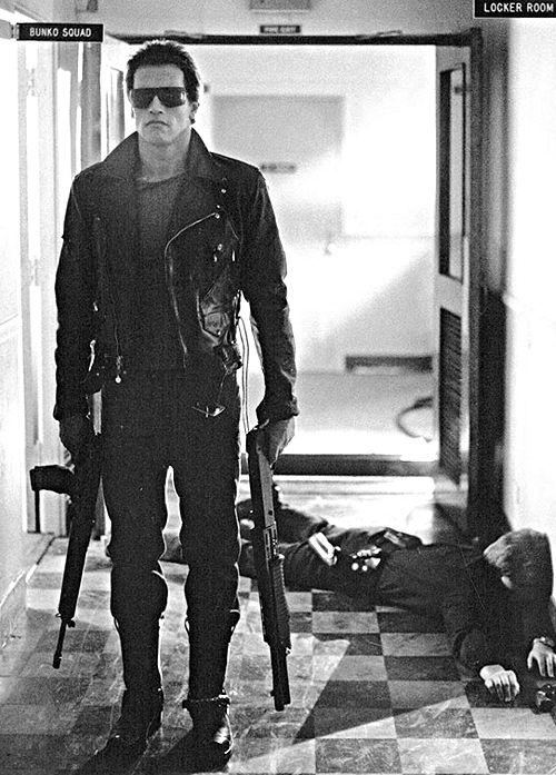 """Arnold Schwarzenegger in """"Terminator"""""""