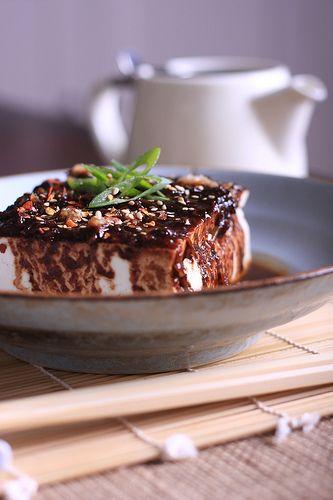 Steamed Tofu with Sriracha l, Garlic, Sesame & Fermented Black Bean Sauce | olivesfordinner
