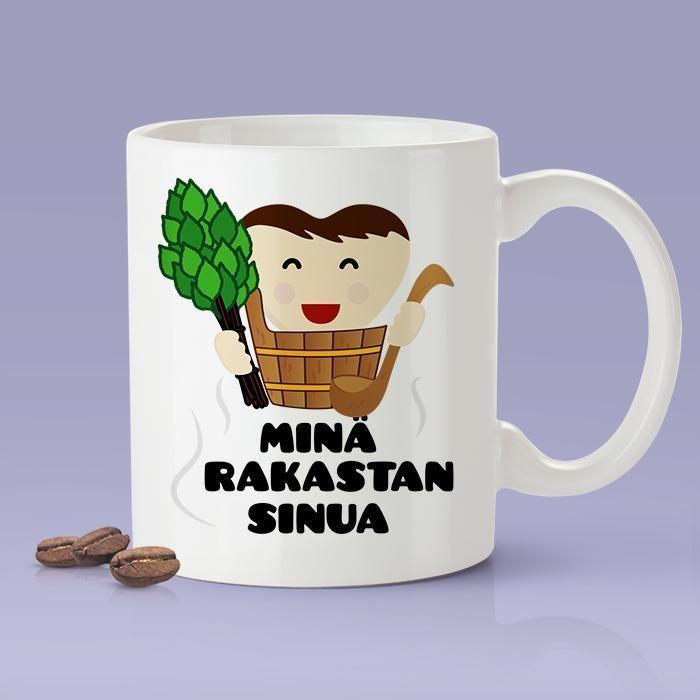 I Love You - Finland [Gift Idea For Him or Her - Makes A Fun Present] Minä rakastan sinua- Finnish Love Mug