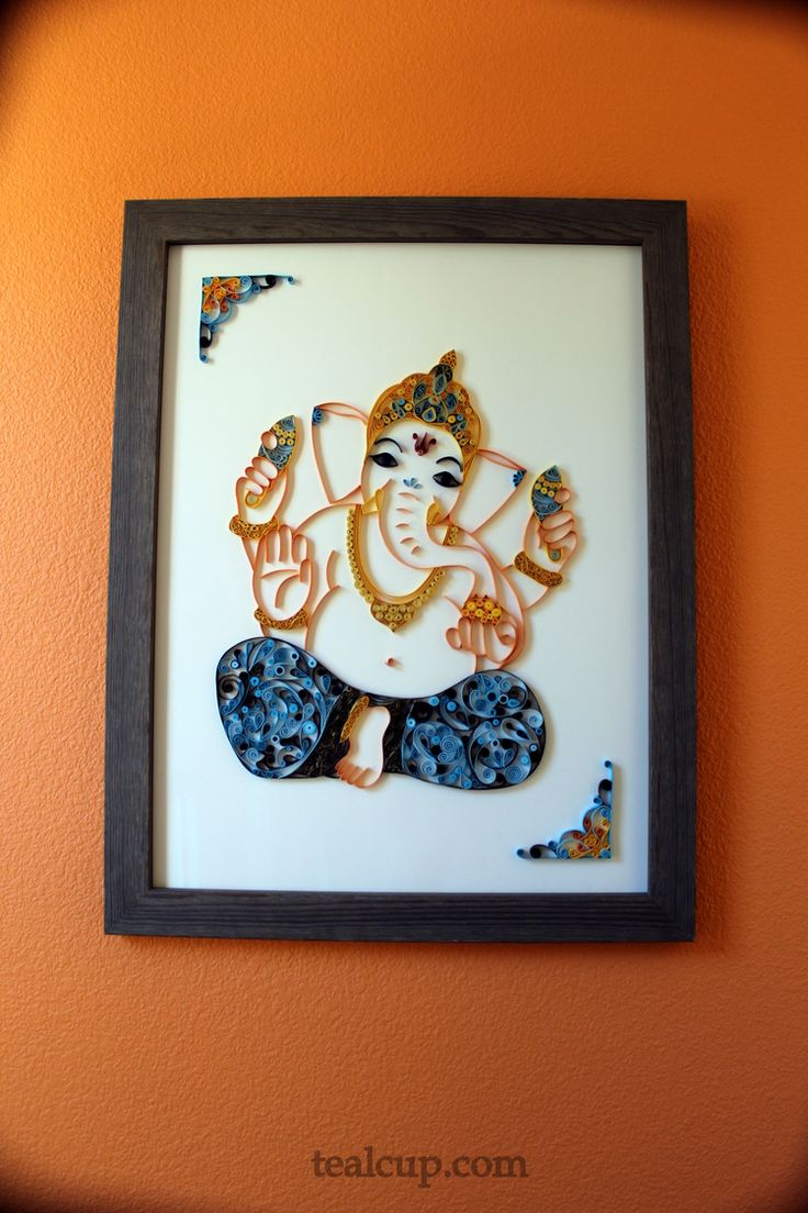 tealcup quilling gallery - Ganesha 5