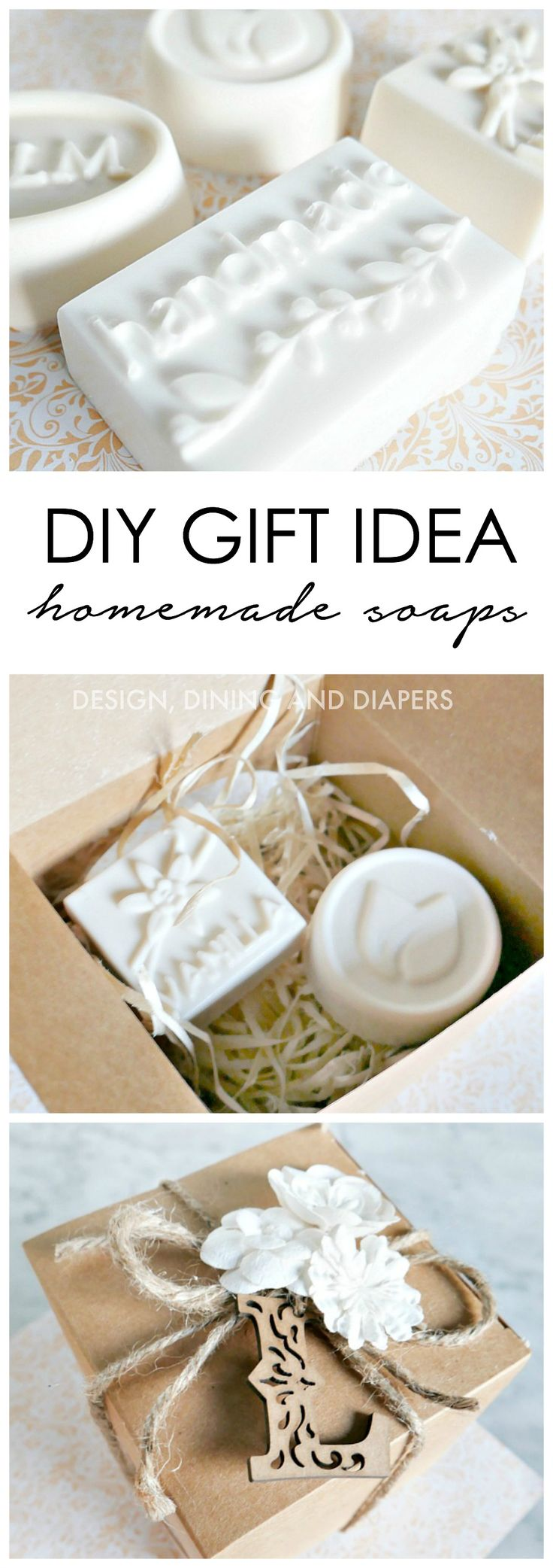 DIY Gift Idea Homemade Soaps With Gift Wrap