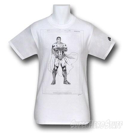 Superman pencil sketch t-shirt