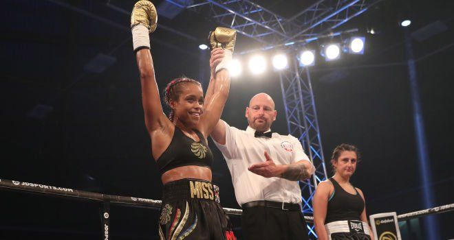 June 24 2017 - Team GB's first female Olympic boxer Natasha Jonas takes just 92 seconds to win her first pro fight against Monika Antonik